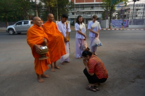 Meditating with Monks