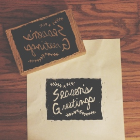 "Craft Night: DIY ""Season's Greetings"" BlockStamp"